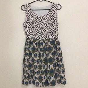 Dresses & Skirts - 3-Layers Silk Dress w/ Beautiful & Unique Pattern
